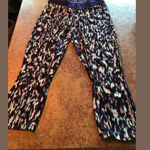 Nike purple compression crop leggings size Medium